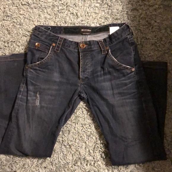 grey armani jeans